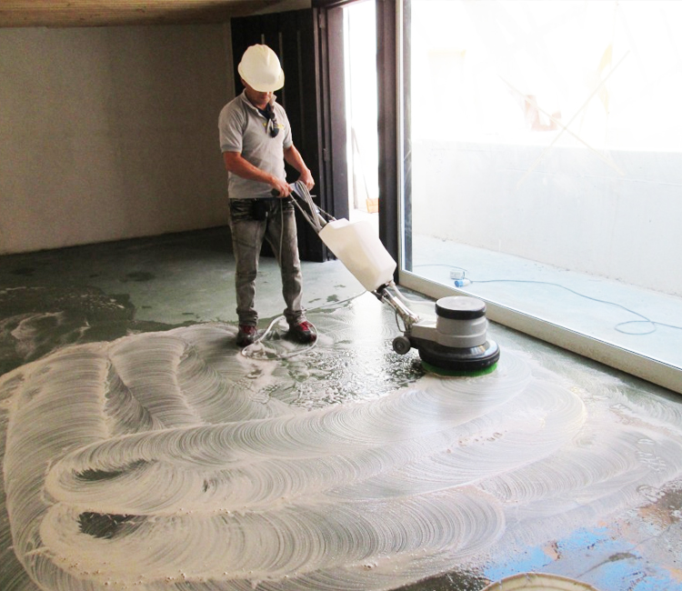 Pulido y abrillantado de pisos industriales serroto - Como limpiar piso de cemento pulido ...